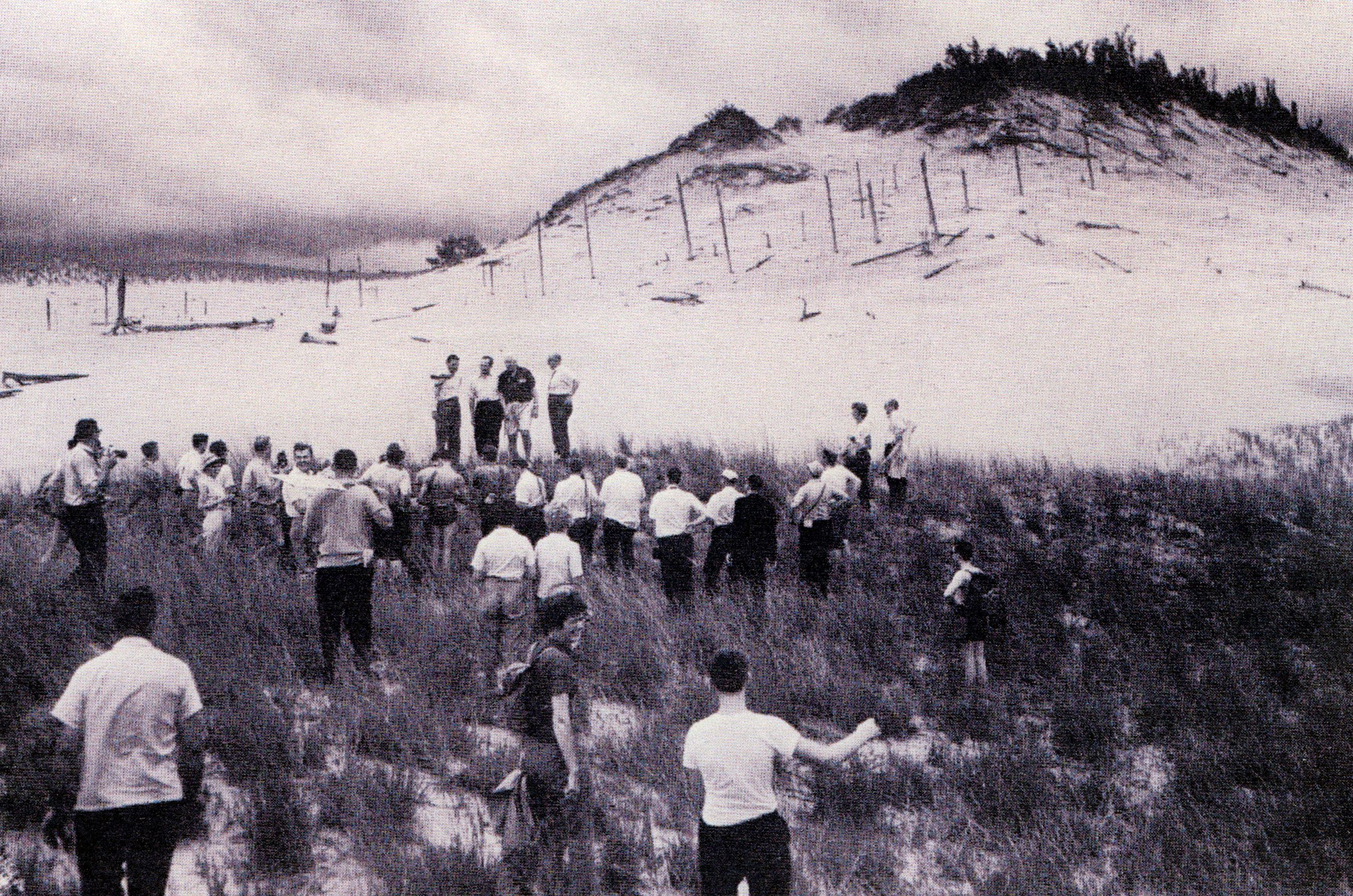 Pilgrimage to the Central Dunes, July 23, 1961, with Howlin' Hill in the distance