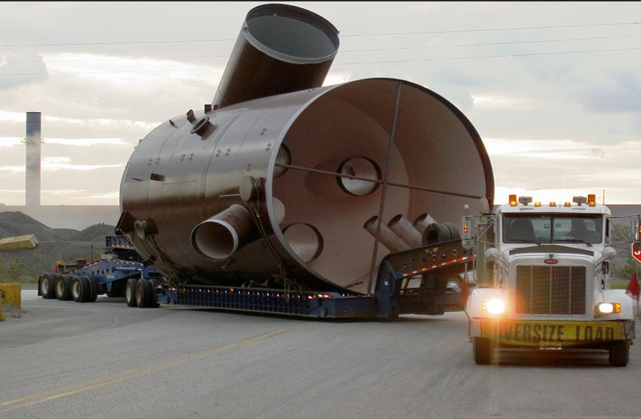 Trans-United moves specialized and oversized loads like this exhaust gas recovery system.