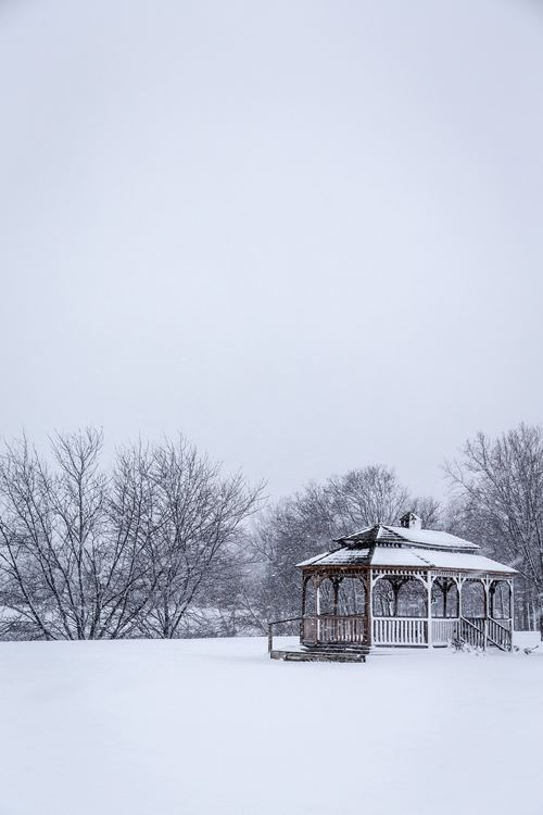 Lakeland Park gazebo in winter